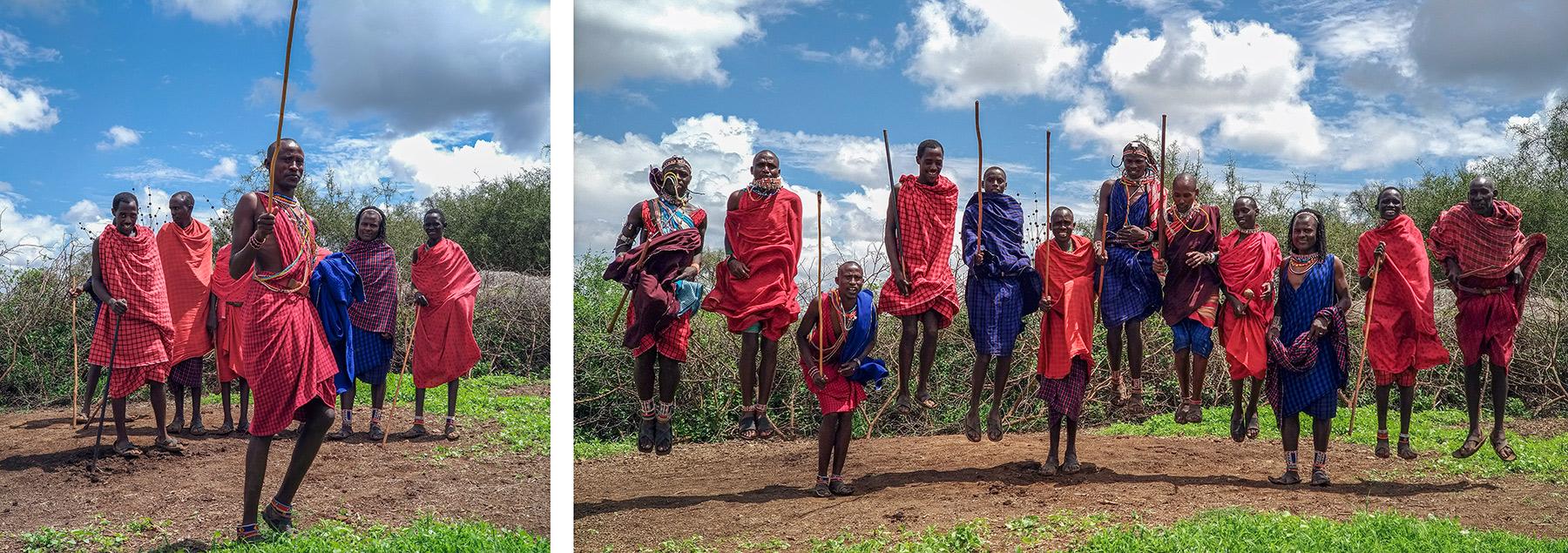 Masajowie z Kenii Oderwany z Masajami